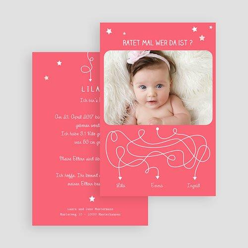 Geburtskarten für Mädchen - Rätsel 44340 test