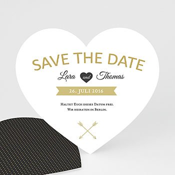 Save The Date  - Goldiges Herz - 0