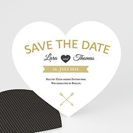 Save The Date  Herz mit Stil