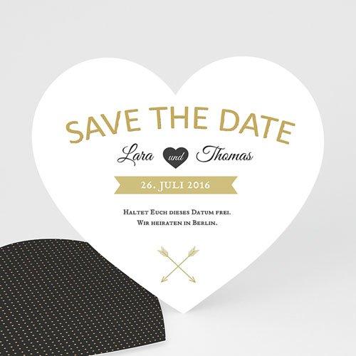Save The Date  - Herz mit Stil  44344