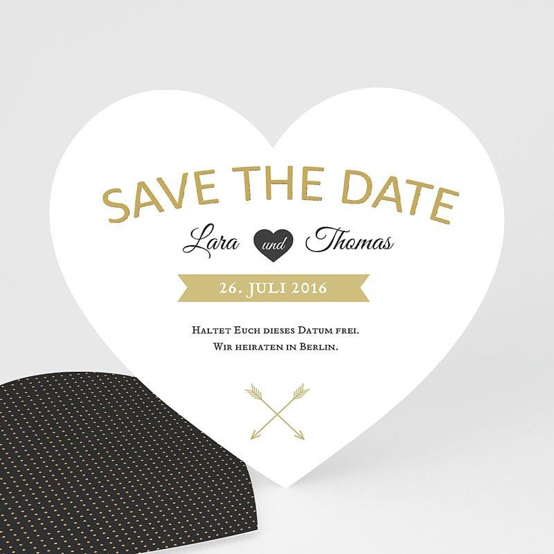 Save The Date Karten Hochzeit Herz mit Stil