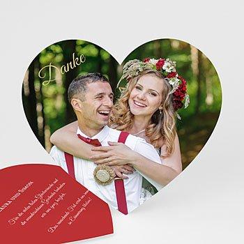 Originelle Dankeskarte Hochzeit  - Danke Herz - 0