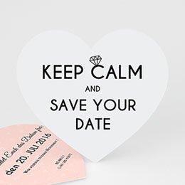 Save the date Hochzeit Herz und Diamant