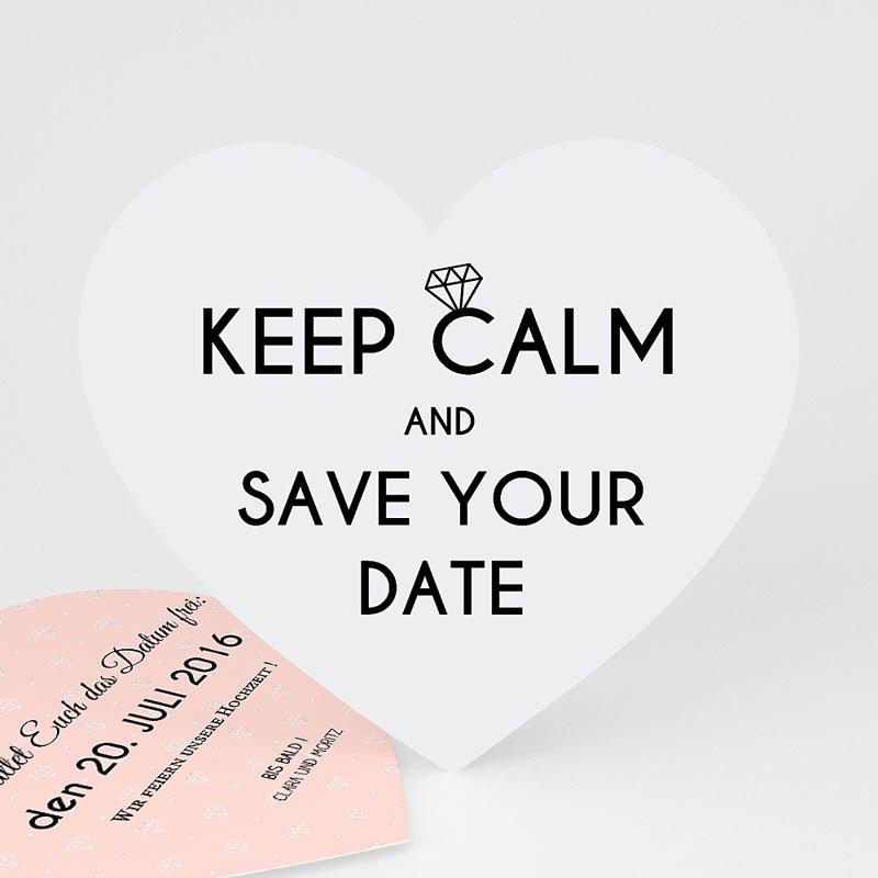Save The Date Karten Hochzeit Herz und Diamant