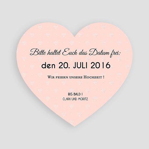 Save The Date  - Herz und Diamant 44359 test
