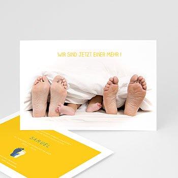 Lustige Geburtskarten - Füße unter der Decke - 0
