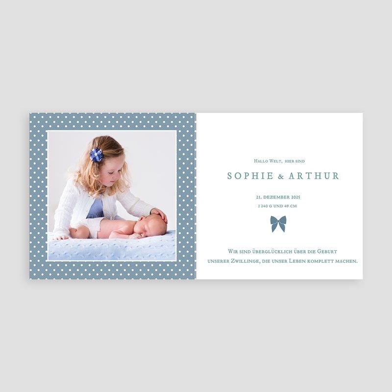 Geburtskarten für Jungen Retro Blau pas cher