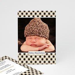 Karten Geburt Baby Chic