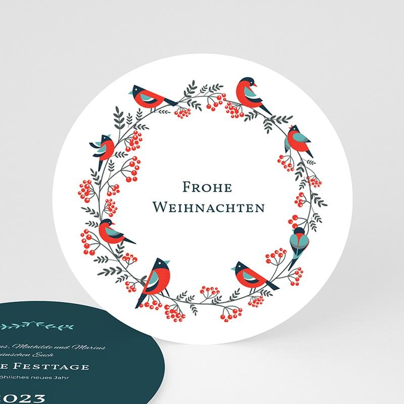 Weihnachtskarten Beerenkranz