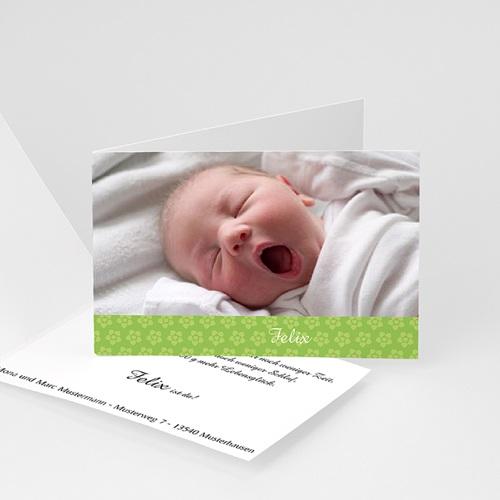 Babykarten für Jungen - Blümchenrahmen 4442