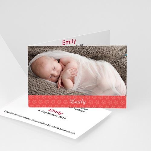 Geburtskarten für Mädchen - Blümchendesign 4446 test