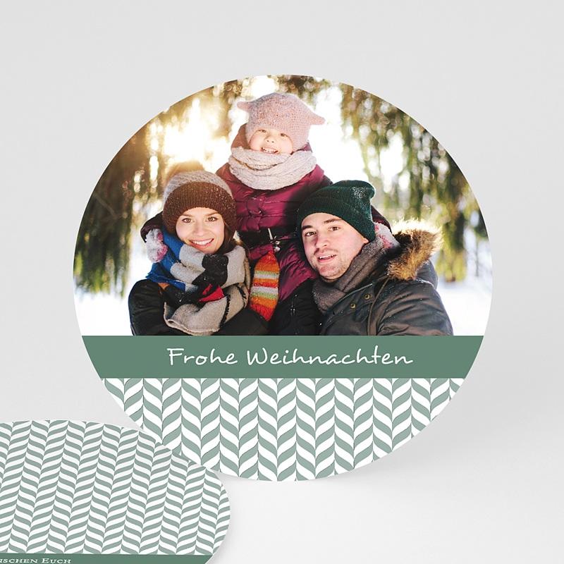 Weihnachtskarten Blättermotiv