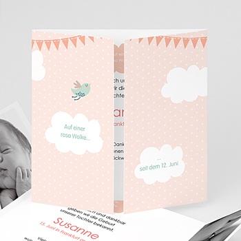 Geburtskarten für Mädchen - Wolkenreich - 0