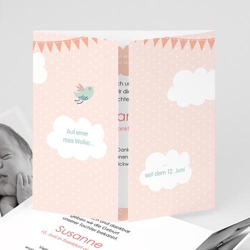 Geburtskarten für Mädchen Wolkenreich
