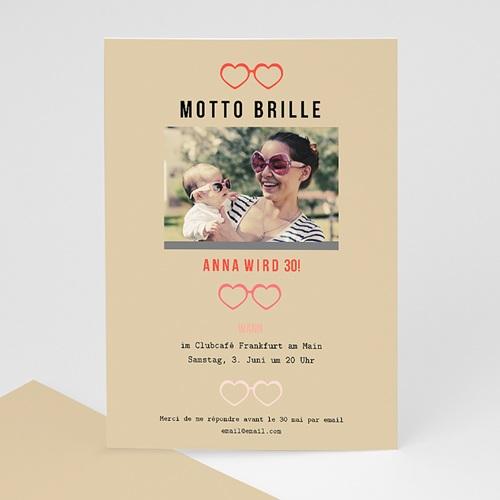 Runde Geburtstage - Motto Brille 44488