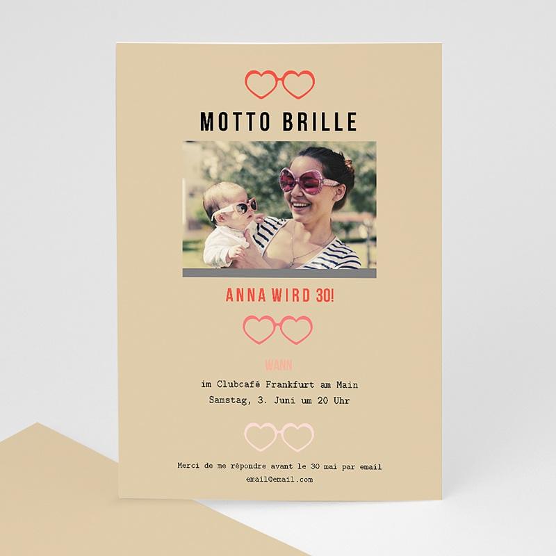 Erwachsener Einladungskarten Geburtstag Motto Brille