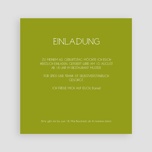 Runde Geburtstage - Tafellook Olive 44495 preview