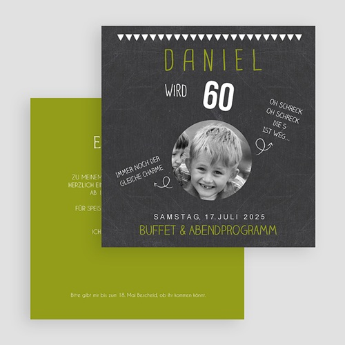 Runde Geburtstage - Tafellook Olive 44496 preview