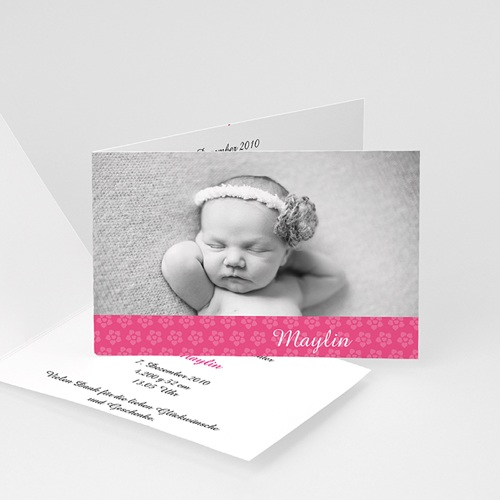 Geburtskarten für Mädchen - Floraldesign 4450