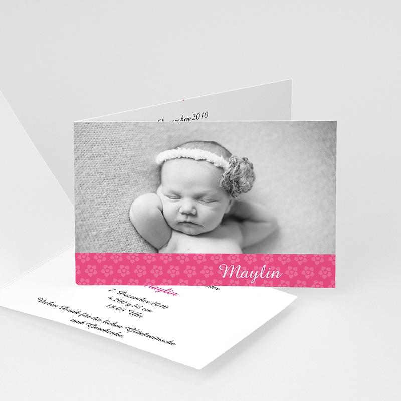 Geburtskarten für Mädchen - Floraldesign 4450 thumb