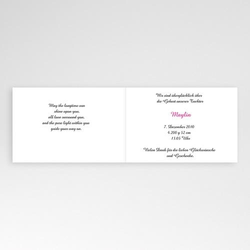 Geburtskarten für Mädchen - Floraldesign 4451 test