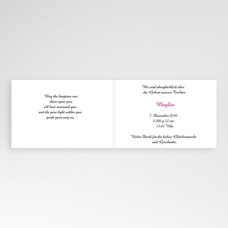 Geburtskarten für Mädchen - Floraldesign 4451 thumb