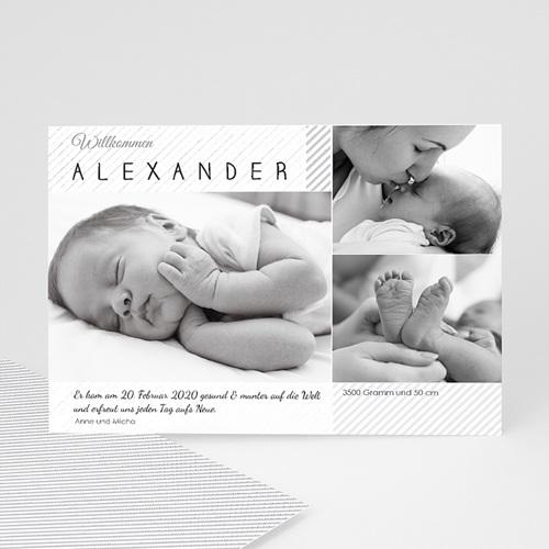 Geburtskarten für Jungen Schwarz-Weiss Aufnahme