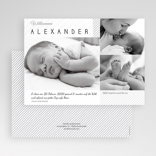 Geburtskarten für Jungen Schwarz-Weiss Aufnahme gratuit
