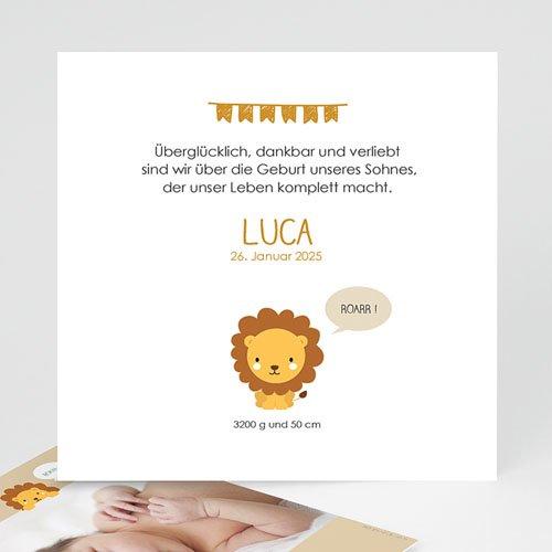 Geburtskarten für Jungen Dschungellöwe