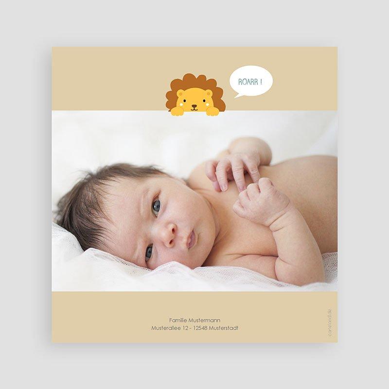 Geburtskarten für Jungen Dschungellöwe pas cher