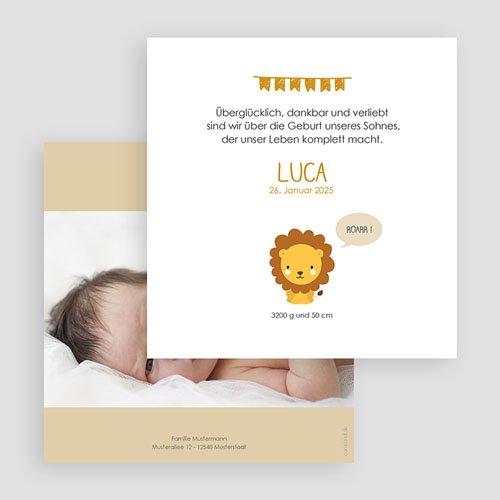 Geburtskarten für Jungen Dschungellöwe gratuit
