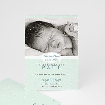 Babykarten für Jungen - Winterbaby - 0