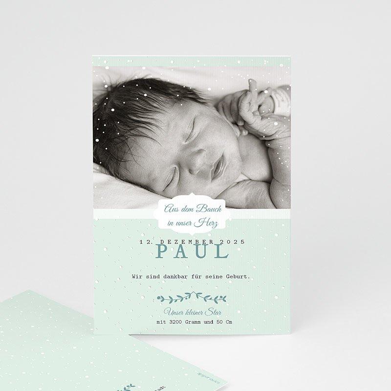 Geburtskarten für Jungen Winterbaby