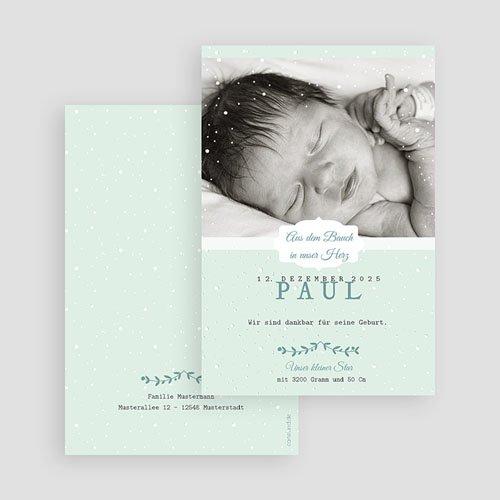 Geburtskarten für Jungen Winterbaby gratuit