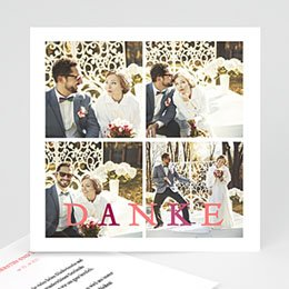 Danksagungskarten Hochzeit  Fotokarte