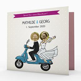 Humorvolle Hochzeitskarten  Roller