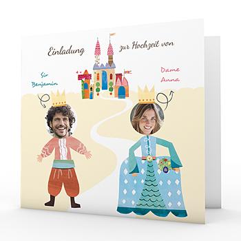 Originelle Hochzeitskarten  - Märchenhochzeit - 0