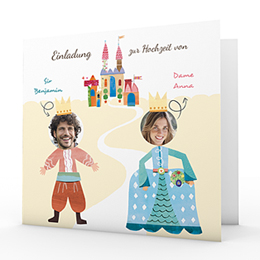 Hochzeitseinladungen modern - Märchenhochzeit - 0
