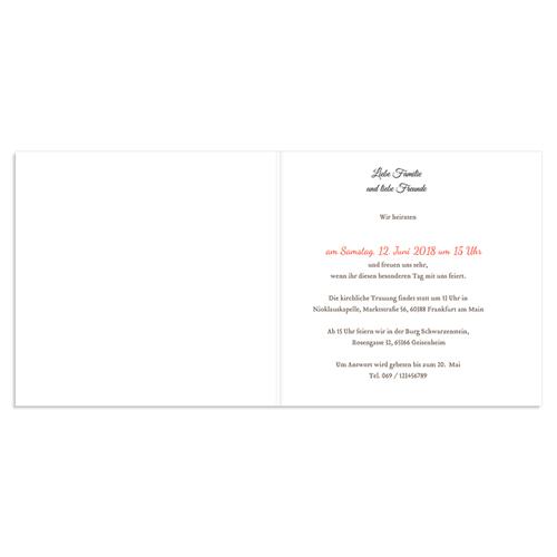 Hochzeitseinladungen modern - Traumhocheit 44573 preview