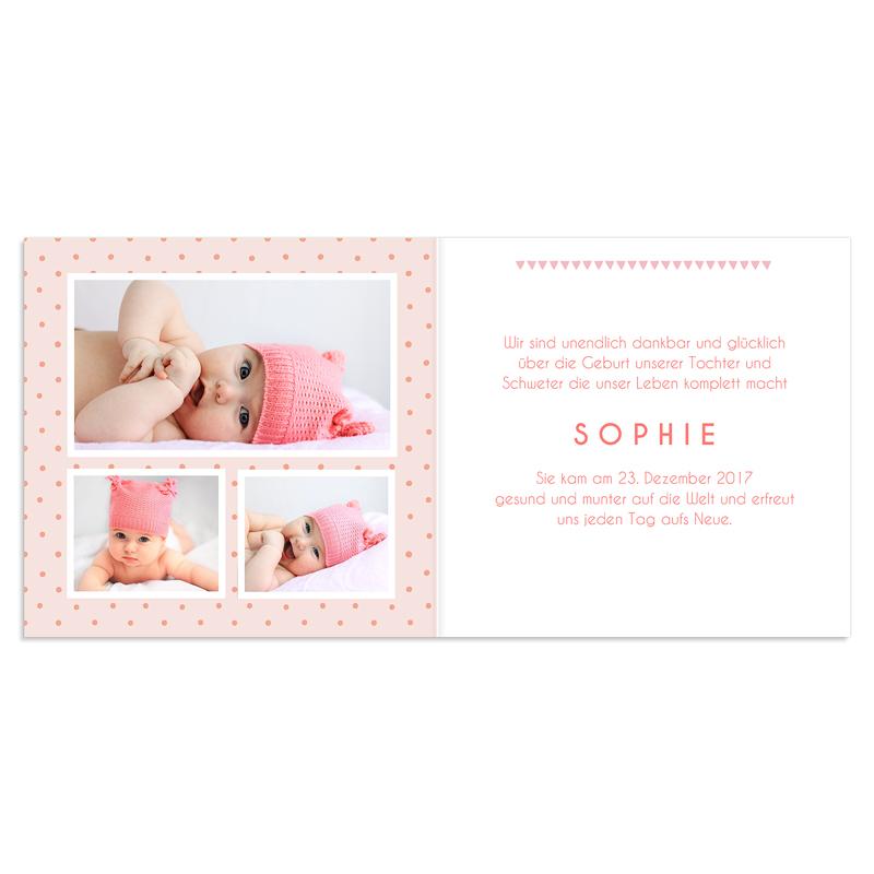Geburtskarten für Mädchen Liska pas cher