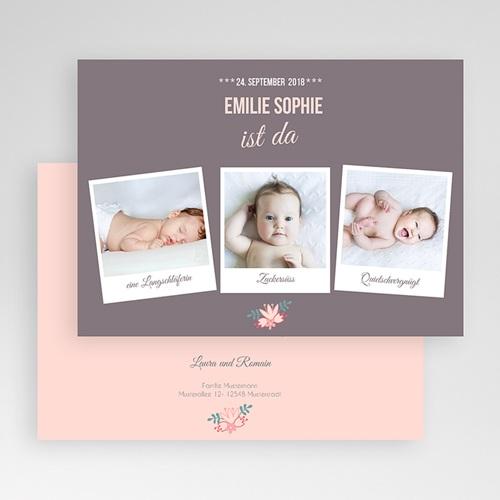 Geburtskarten für Mädchen - Blumig 44609 preview