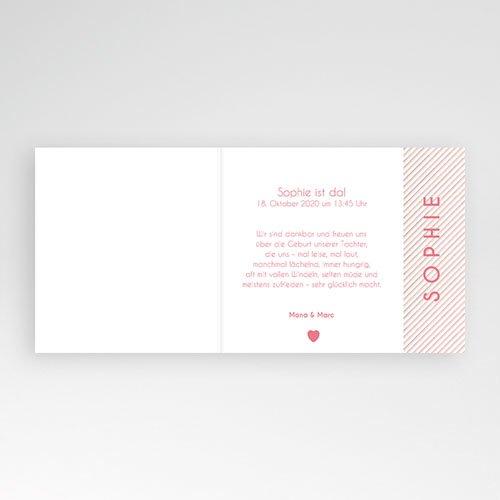 Geburtskarten für Mädchen Made with Love pas cher