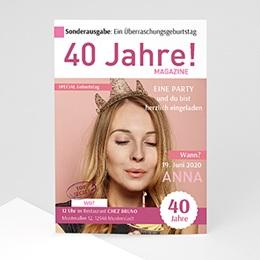 Einlegekarte Anniversaire adulte 50 Jahre Zeitschrift