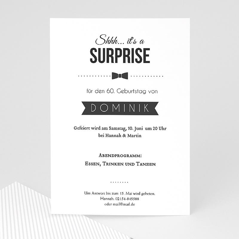 Erwachsener Einladungskarten Geburtstag Retro