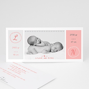 Babykarten für Zwillinge gestalten - Einfach schön - 0