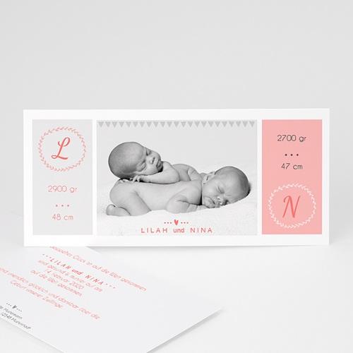 Geburtskarten für Zwillinge Einfach schön
