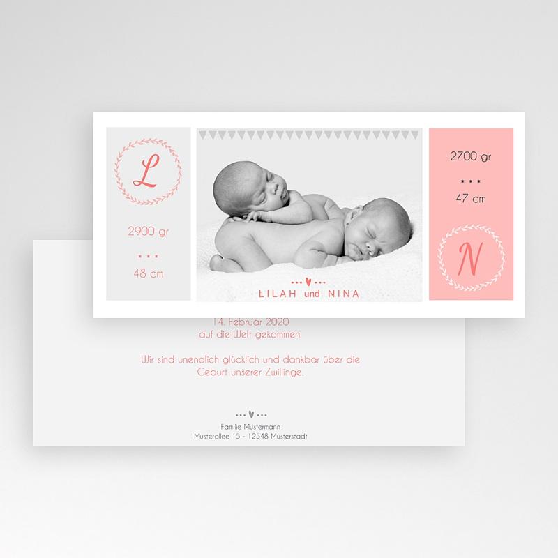 Geburtskarten für Zwillinge Einfach schön pas cher