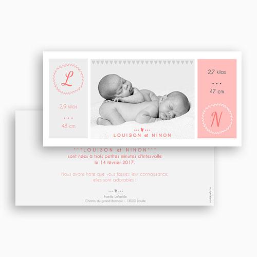 Babykarten für Zwillinge gestalten - Einfach schön 44691 preview