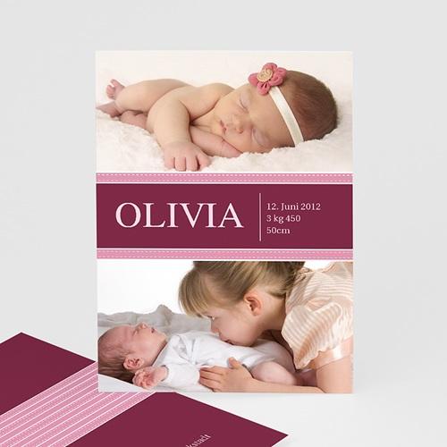 Dankeskarten Geburt Mädchen - Olivia 447