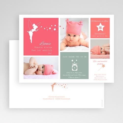 Geburtskarten für Mädchen Kleine Fee gratuit